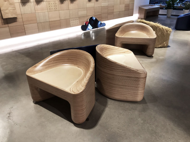 Allbirds CNC Stacklaminated Plywood Chair by Timbur LLC