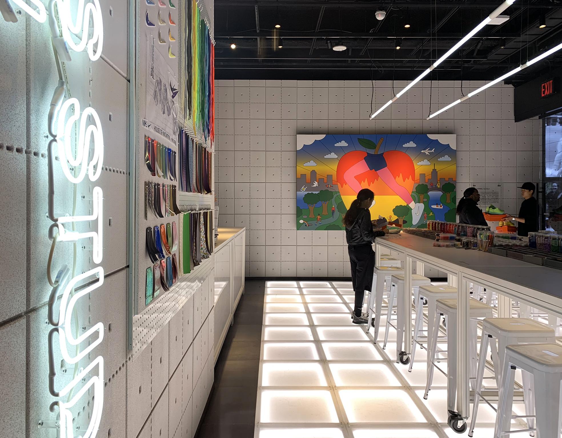 Nike CNC Work - Wallpanels fabricated by Timbur LLC